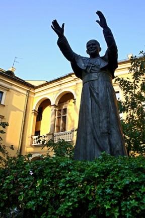 Estatua escultura Juan Pablo II Cracovia
