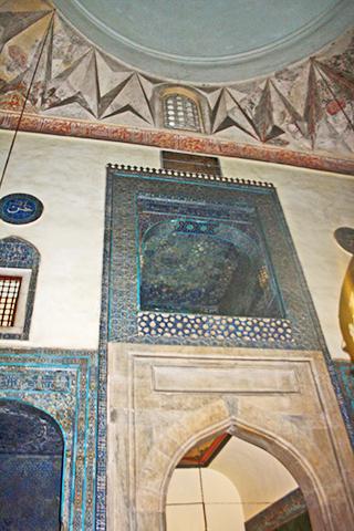 Interior decoración azulejos Mezquita verde Bursa