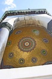 Cúpula mosaico dorado Mezquita Azul Estambul