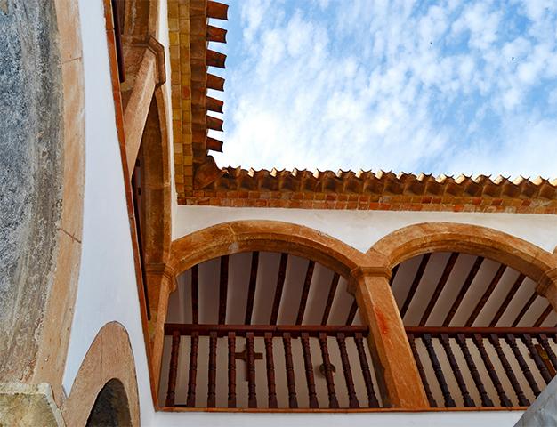 Interior claustro Santuario de la Vera Caravaca de la Cruz