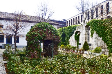 Patio jardín Casa natal José Zorrilla Valladolid