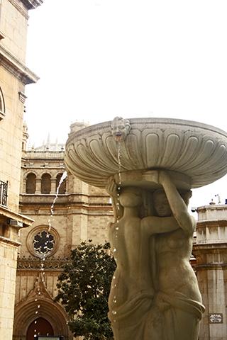 Fuente agua Plaza Mayor Castellón de la Plana