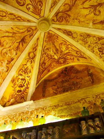 Decoración interior bóveda Cartuja Valldemossa Mallorca