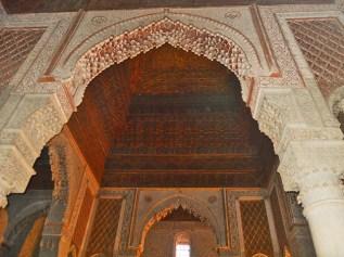 Contrapicado decoraciín filigranas celosías Tumbas Sadíes Marrakech