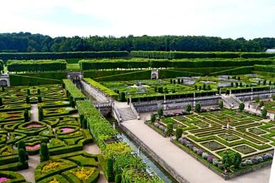 Formas geométricas alfombra de Francia Jardines de Villandry