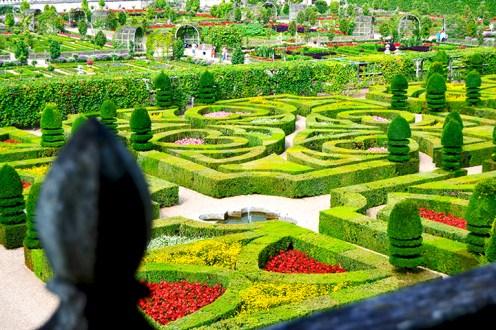 Jardín laberinto colores decoración Castillo Villandry Valle Loira Francia