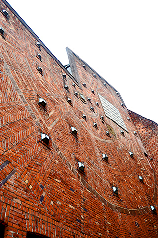 Motivos decorativos pared ladrillo Bottcherstrase Bremen