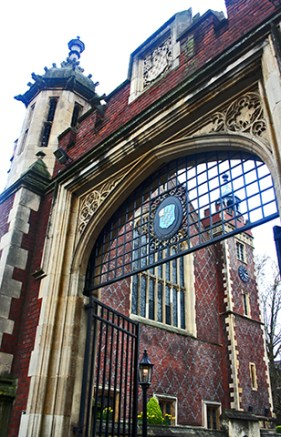 Entrada fortificada Lincolns Inn Temple centro Londres