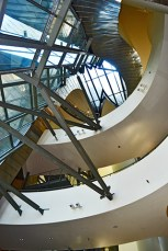 Picado distribución niveles estructura acero Museo Guggenheim