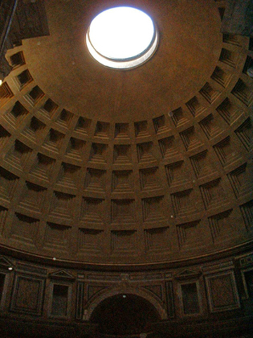 Lucernario all interno del Pantheon