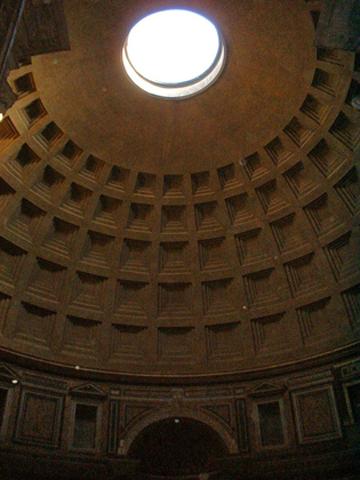 Lucernario all interno del Pantheon