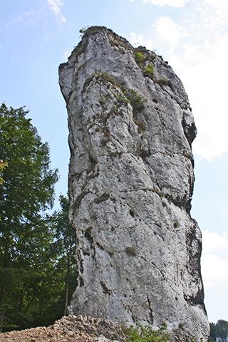 Garrote Hércules roca Parque Nacional Ojców Cracovia Polonia