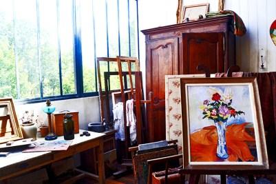Habitación artista bohemio cuadro casa Montmartre París