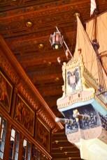 Barco conquistadores techo ayuntamiento Bremen