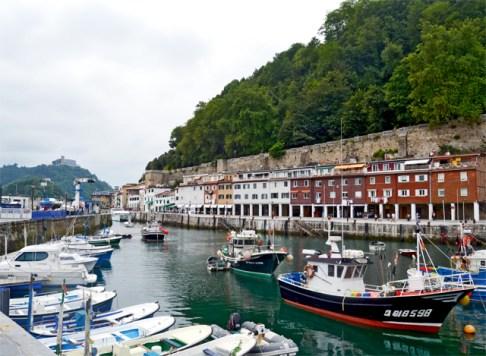 Vistas puerto viejo San Sebastián Monte Urgull Donostia País Vasco