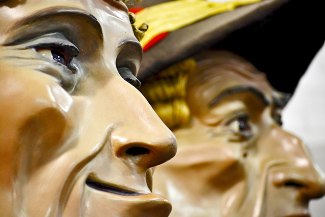 Miradas gigantes y cabezudos Museo de la Fiesta Tarragona