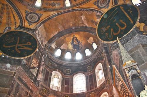 Mosaicos Virgen María Mezquita Santa Sofía Estambul