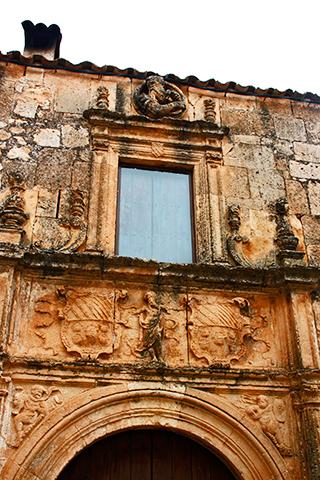 Fachada piedra Museo ruso Miguel Ourvantzoff Alarcón Cuenca