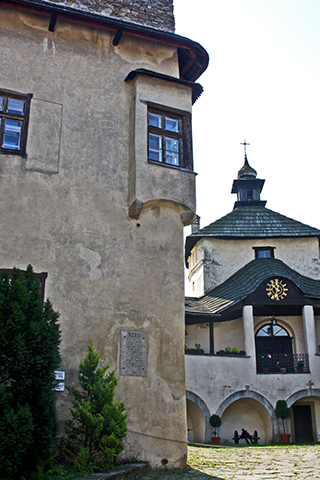 Interior patio castillo río Dunajec Polonia