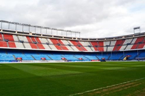 Césped interior estadio Vicente Calderón Atlético de Madrid