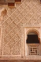 Celosías fachada ventana Madrasa Ben Youssef marrakech