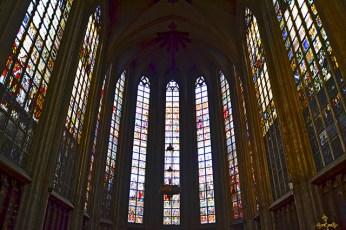 Nave interior Notre-Dame-du-Sablon siglo XV Bruselas