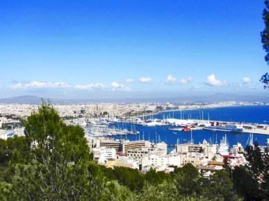 Panorámica puerto deportivo Palma Mallorca pujol de pins Bellver