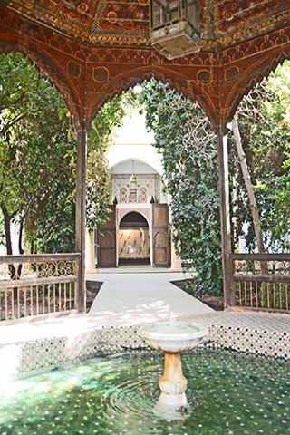 Fuente patio interior jardín Dar Si Said Marrakech