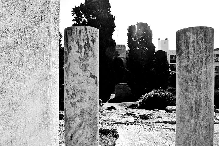 Peristil del forum local de Tarraco