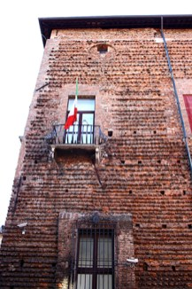 Fachada muro Palacio del Diamante Ferrara
