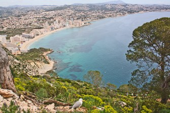 Vistas playa La Fossa Peñón de Ifach Calpe
