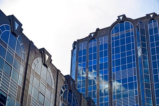 Reflejos cristalera edificios Snow Hill Birmingham