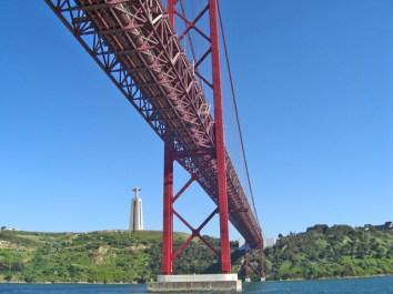 Puente 25 de Julio Cristo Rey Lisboa Portugal