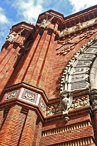 Picado puerta modernista Exposición Universal Barcelona