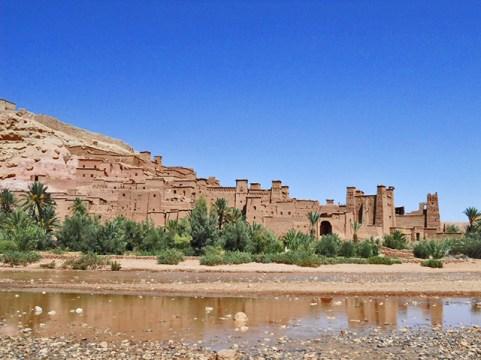 Vistas río construcción Ait Ben Haddou Ouarzazate Marruecos