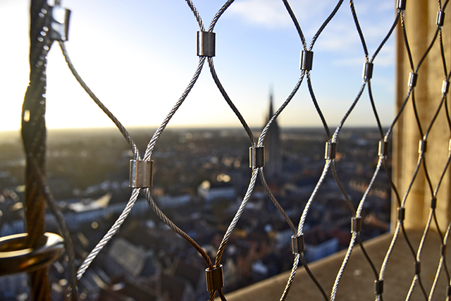 Rejas vista ciudad torre Belfort Brujas