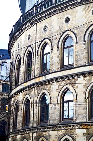 Edificio cilindro centro histórico Bremen