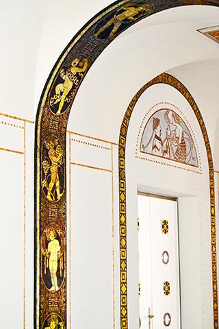Friso mosaicos decoración Kunst ayuntamiento Hannover