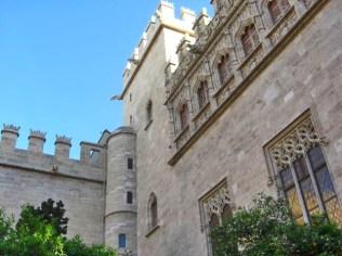 Jardín interior Lonja Seda gótico El Carmen Valencia