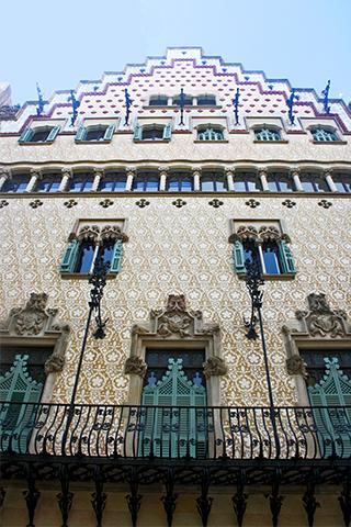 Picado fachada Modernismo casa Amatller Puig i Cadafalch Barcelona