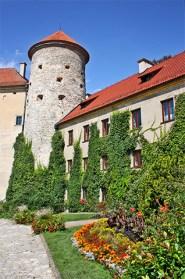Interior jardín castillo Ojców Polonia