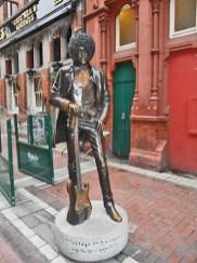 Estatua guitarrista Phil Lynott Grafton Street Dublín