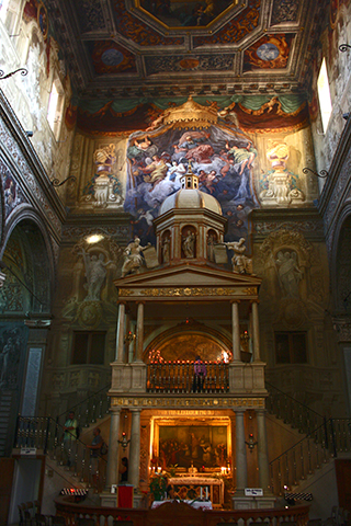 Interior altar mayor capilla literaria Catedral Ferrara