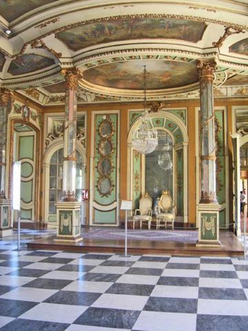 Sala de los embajadores Palacio de Queluz Portugal
