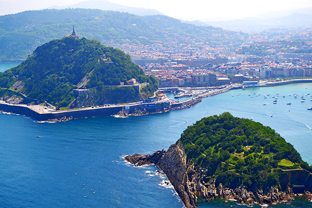 Vistas Isla Santa Clara Monte Urgull bahía La Concha San Sebastián Donosti