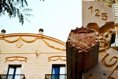 Escudo sello ciudad Tarragona piedra