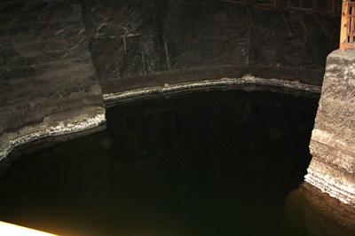 Lago interior Minas sal Wieliczka Cracovia Polonia