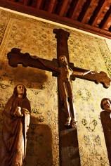 Escultura Jesús cruz triforio catedral Cuenca