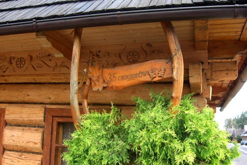 Entrada casa madera siglo XVIII-XIX Zakopane Polonia
