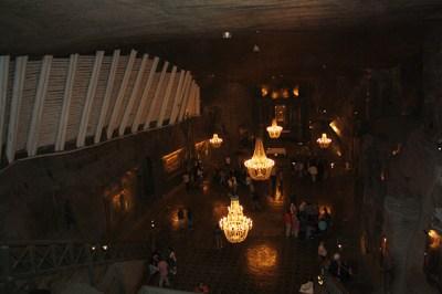 Capilla Santa Kinga real interior Minas sal Wieliczka Polonia